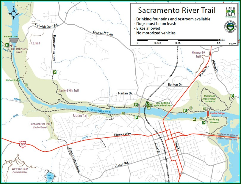 Redding Bike Trail Map