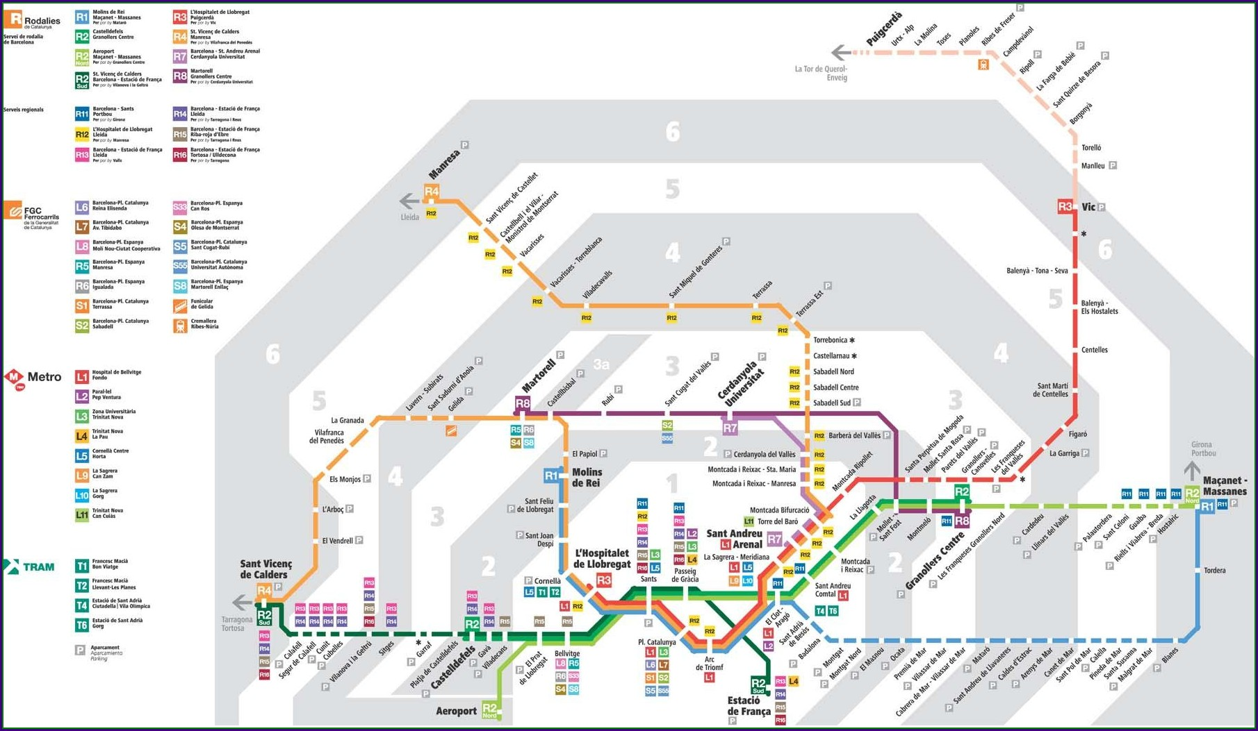 Renfe Train Map Spain