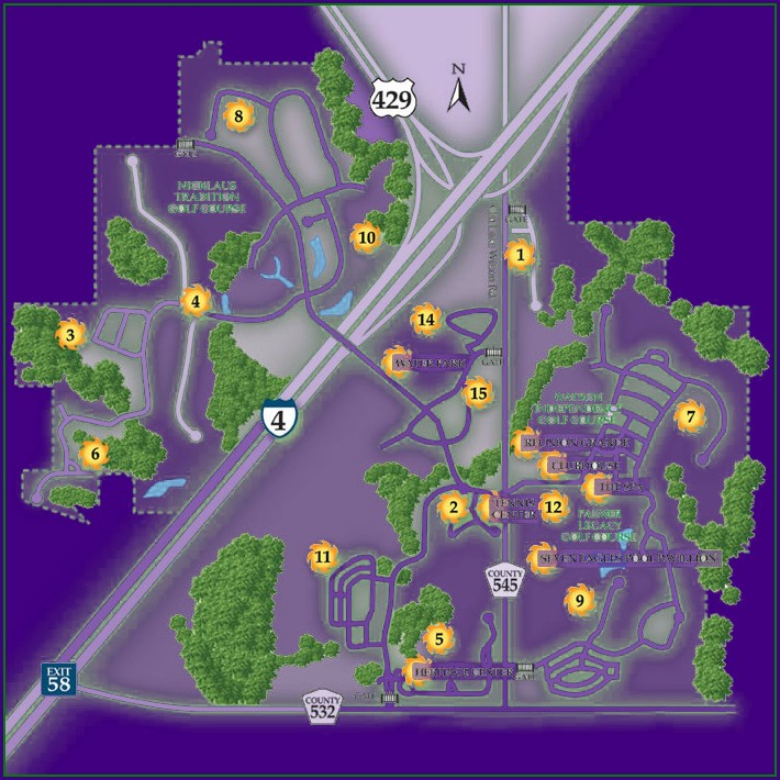 Reunion Resort Florida Map