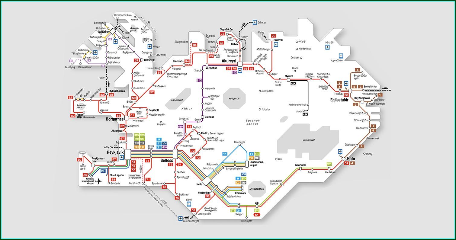 Reykjavik Public Transport Map