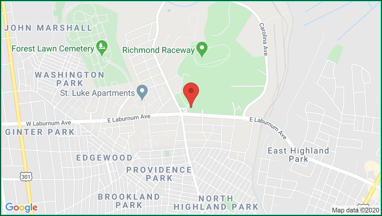 Richmond Raceway Complex Map