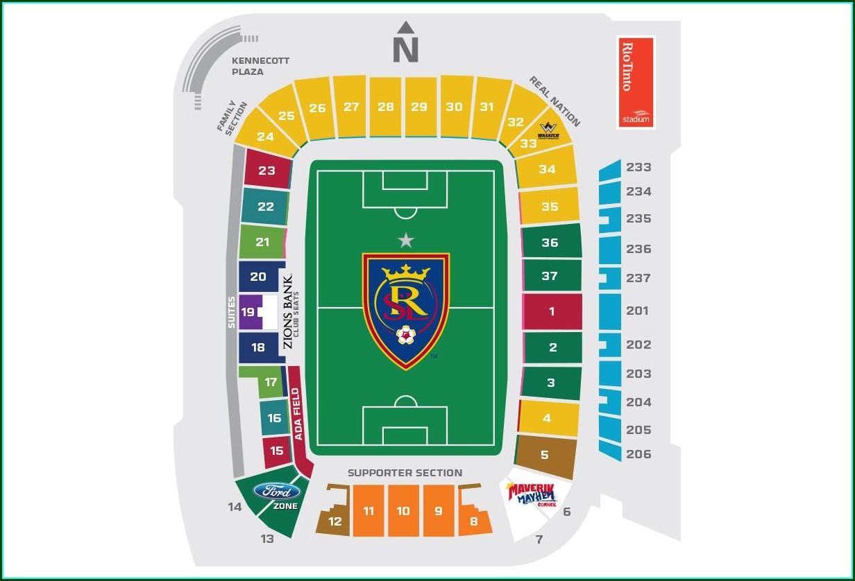 Rio Tinto Seat Map