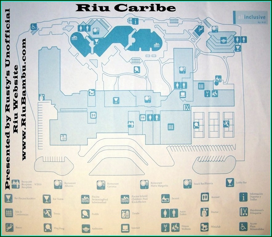 Riu Caribe Cancun Map