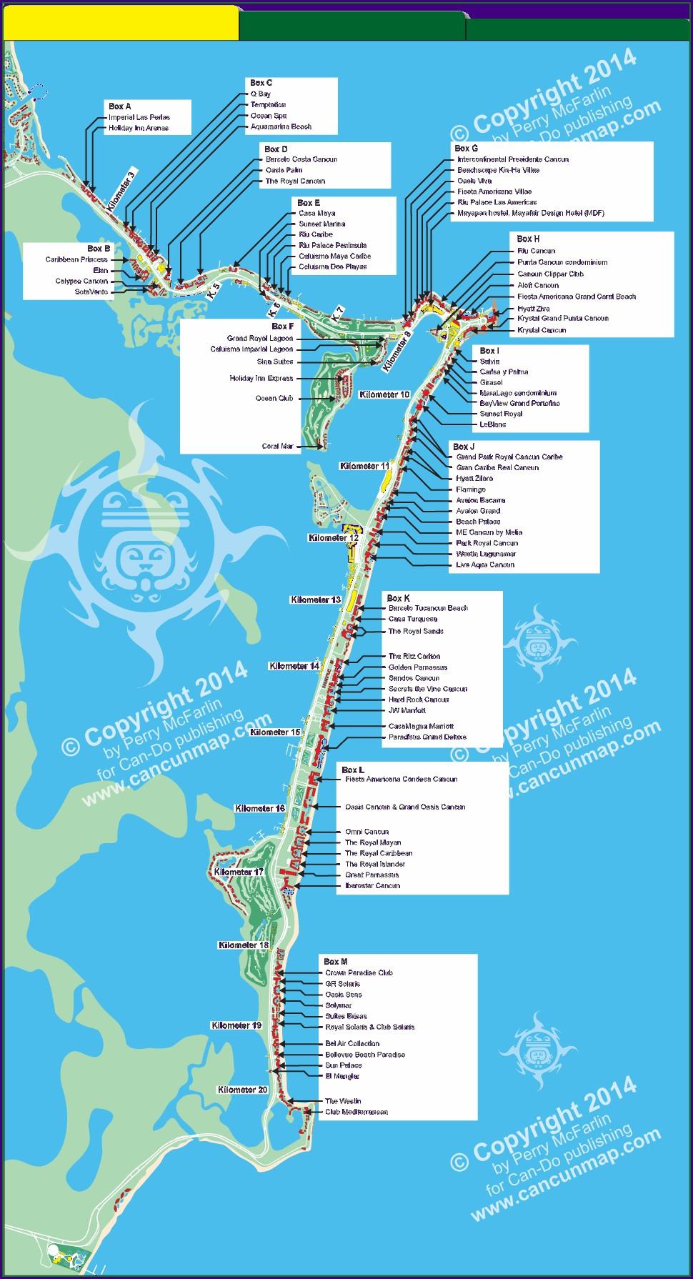 Riu Hotels Cancun Map