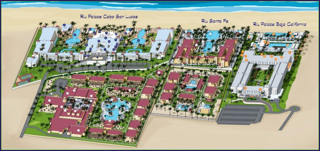 Riu Santa Fe Resort Map