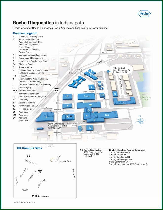 Roche Diagnostics Indianapolis Campus Map