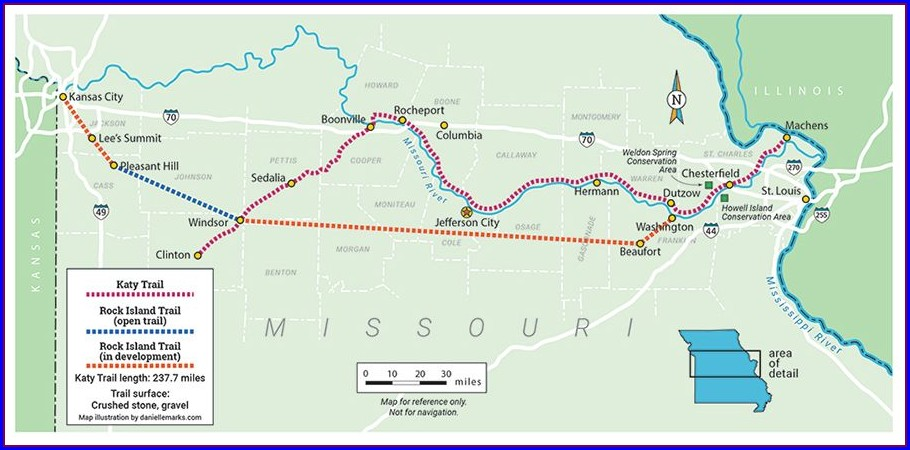 Rock Island Trail Map Lees Summit