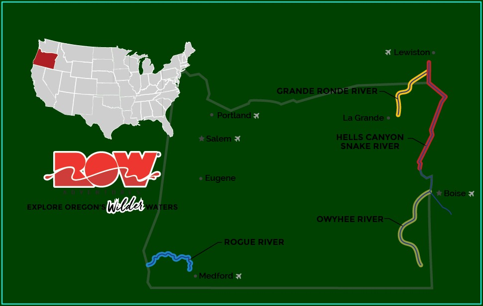 Rogue River Rafting Map