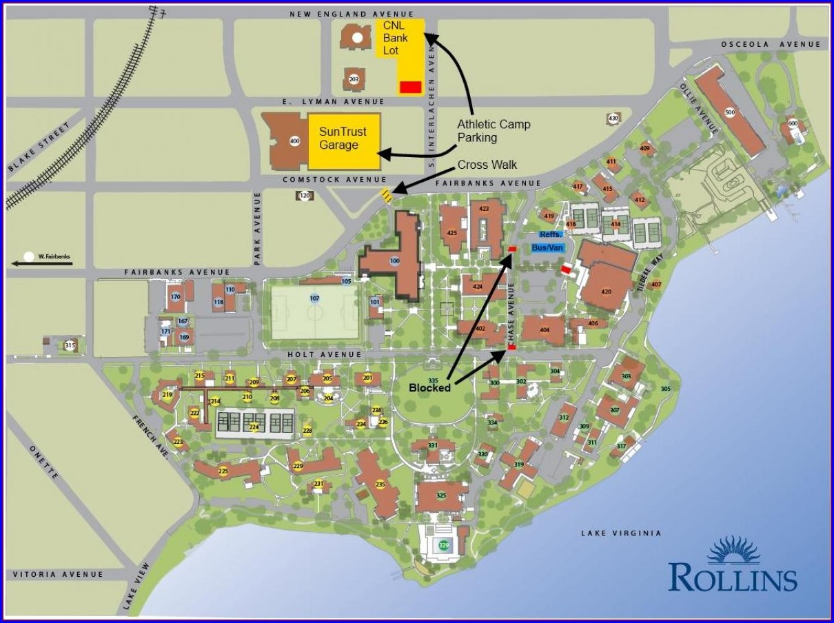 Rollins College Campus Map