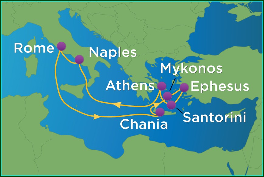 Royal Caribbean Greek Isles Cruise Map