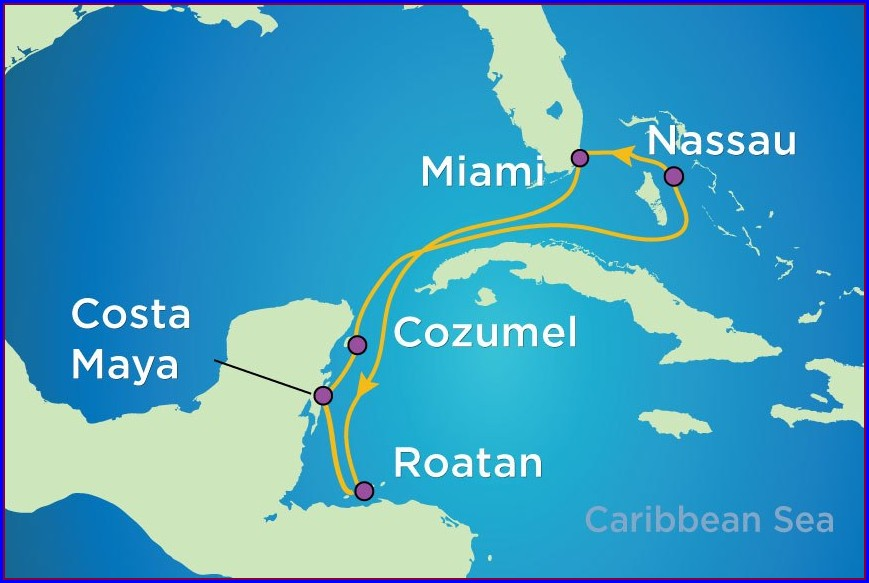 Royal Caribbean Map Of Western Caribbean Cruise