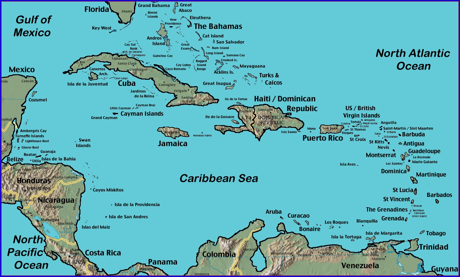 Royal Caribbean Map Of Western Caribbean