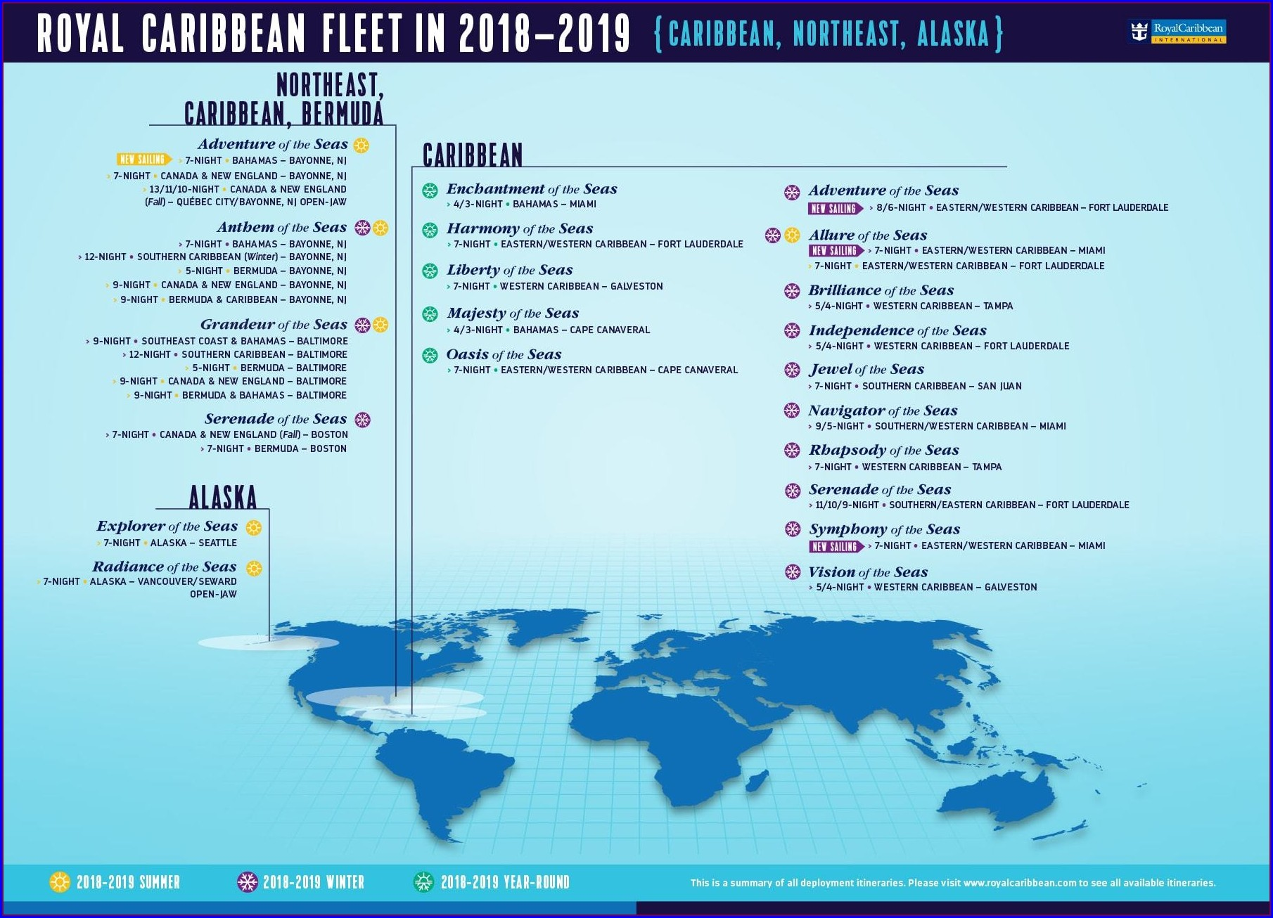 Royal Caribbean Maps Cruises