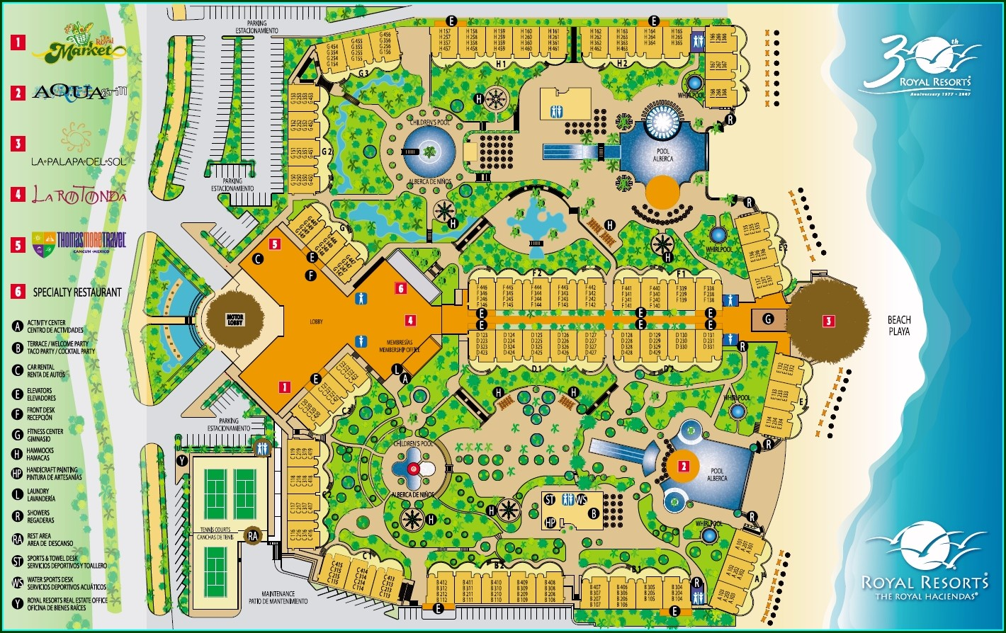 Royal Haciendas Room Map