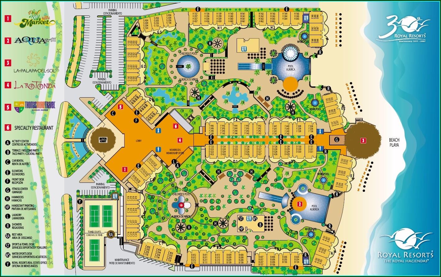 Royal Haciendas Room Map