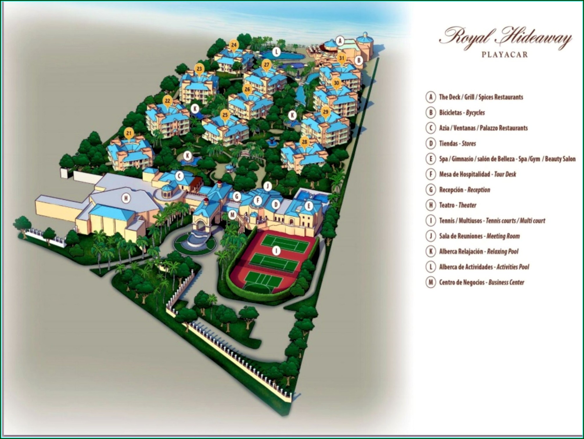 Royal Hideaway Playacar Resort Map