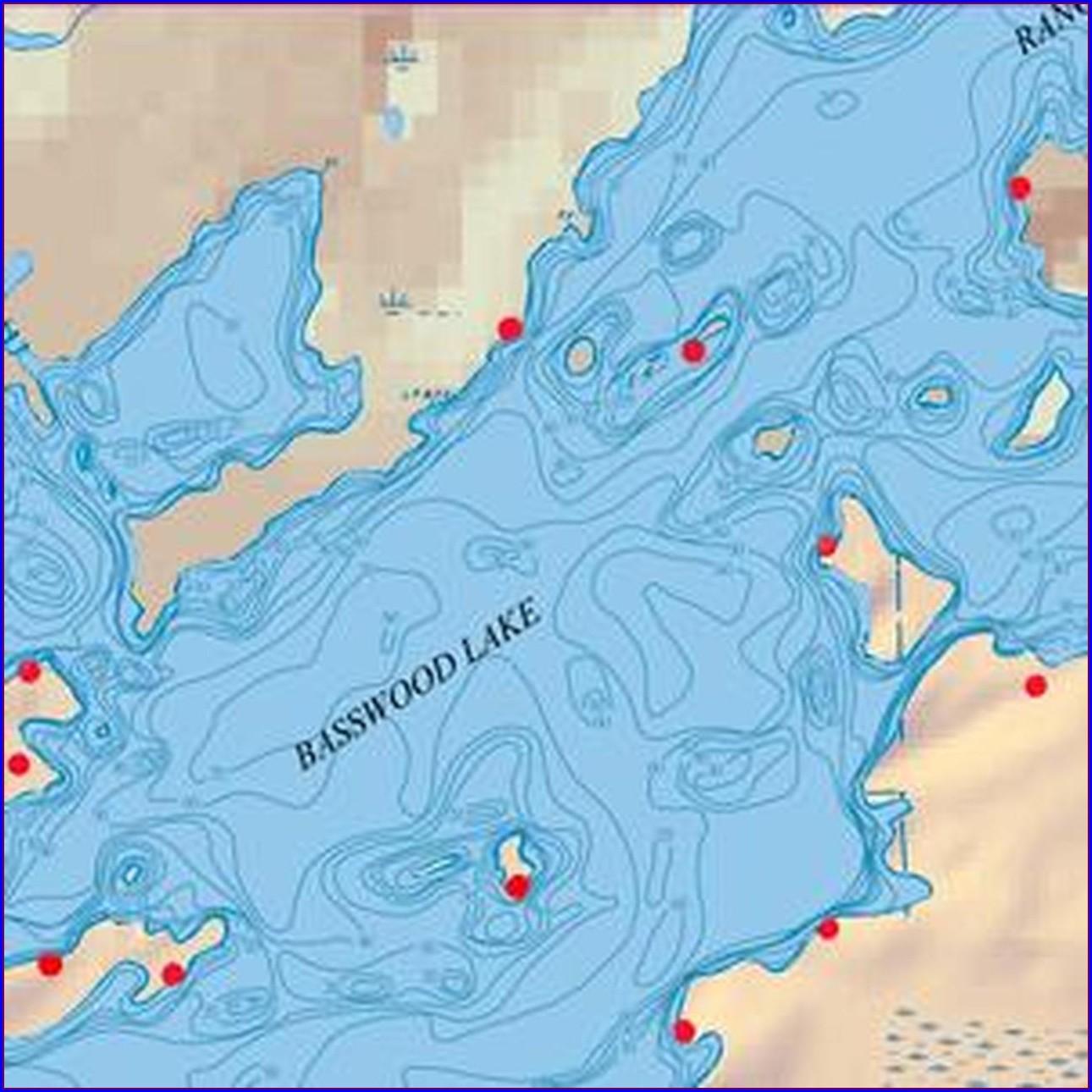 Saganaga Lake Depth Map