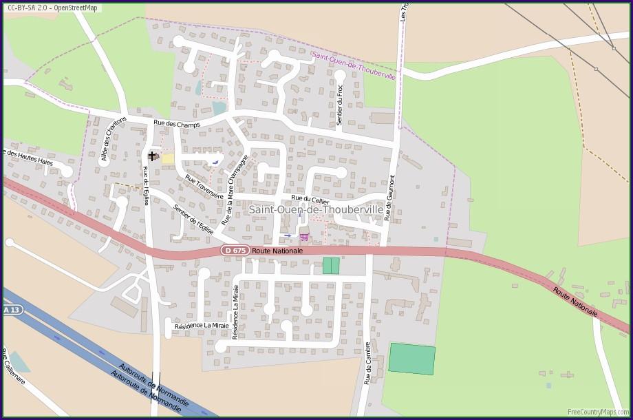 Saint Ouen France Map