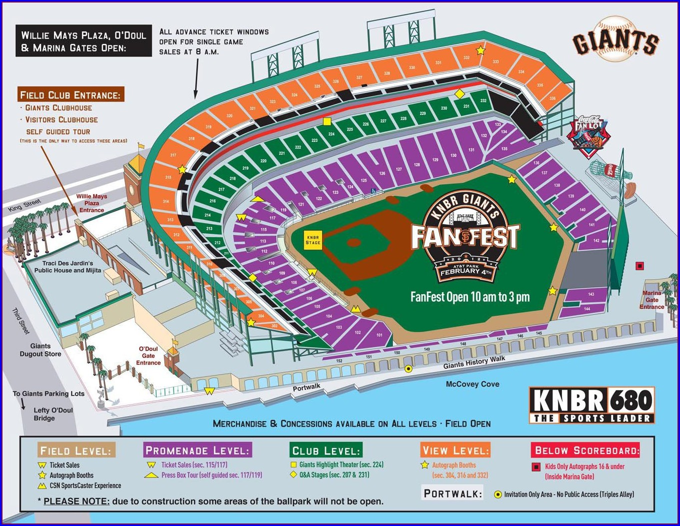 San Francisco Giants Stadium Seating Map