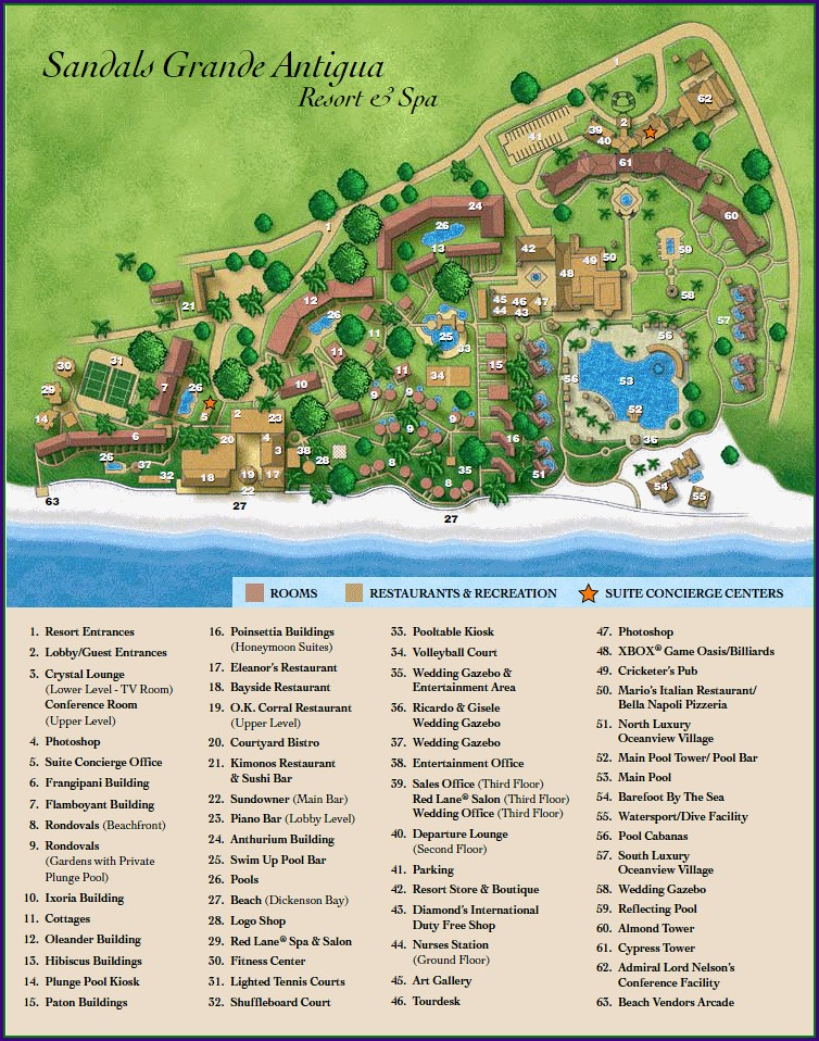 Sandals Negril Property Map