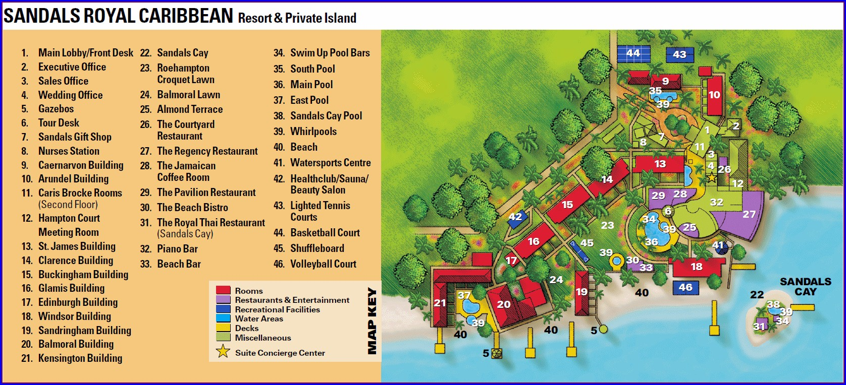 Sandals Royal Caribbean Resort Map