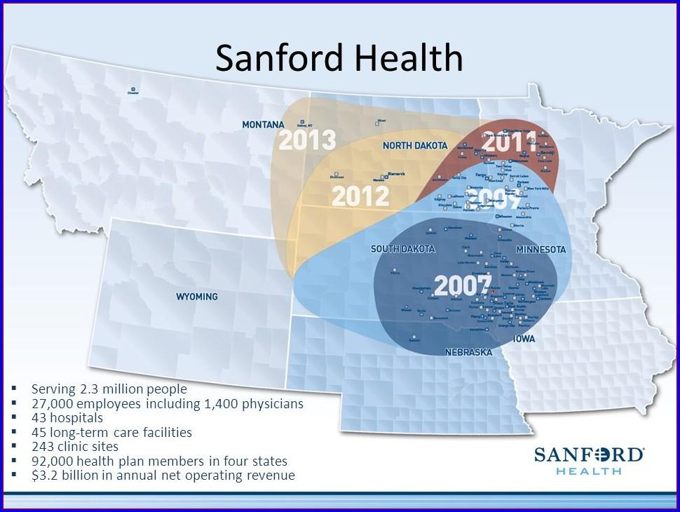 Sanford Health Locations Map