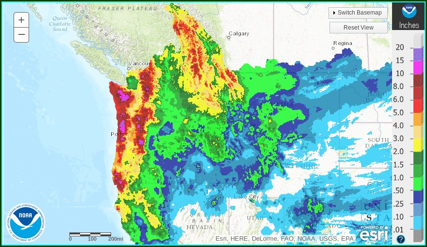 Satellite Weather Map Pacific Northwest
