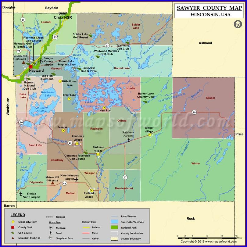 Sawyer County Wisconsin Gis Map