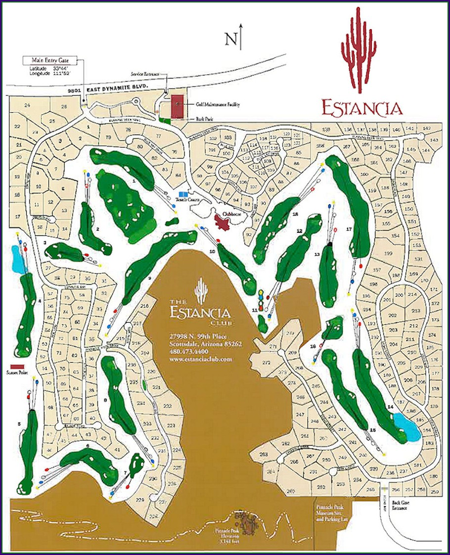 Scottsdale Golf Courses Map