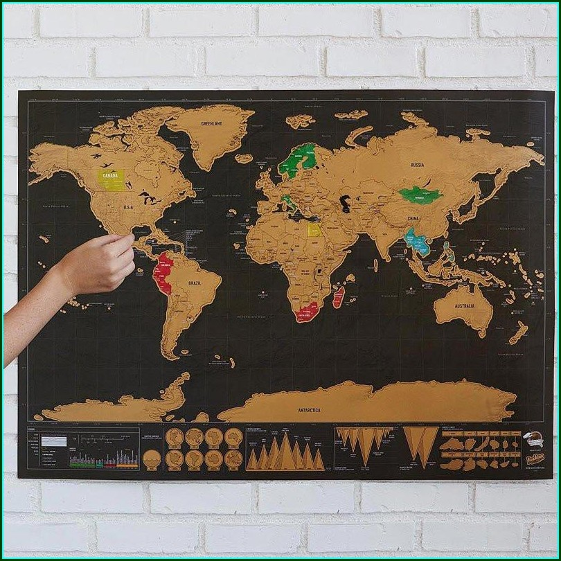 Scratch World Map Online