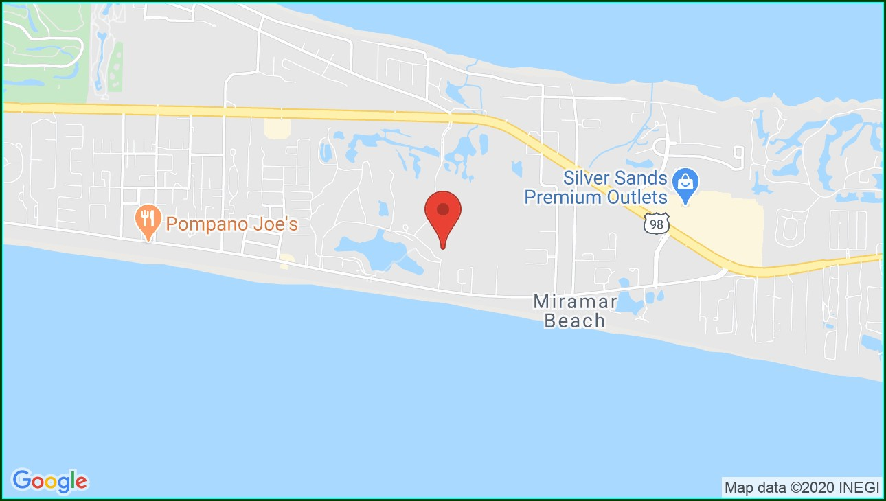 Seascape Resort Miramar Beach Fl Map