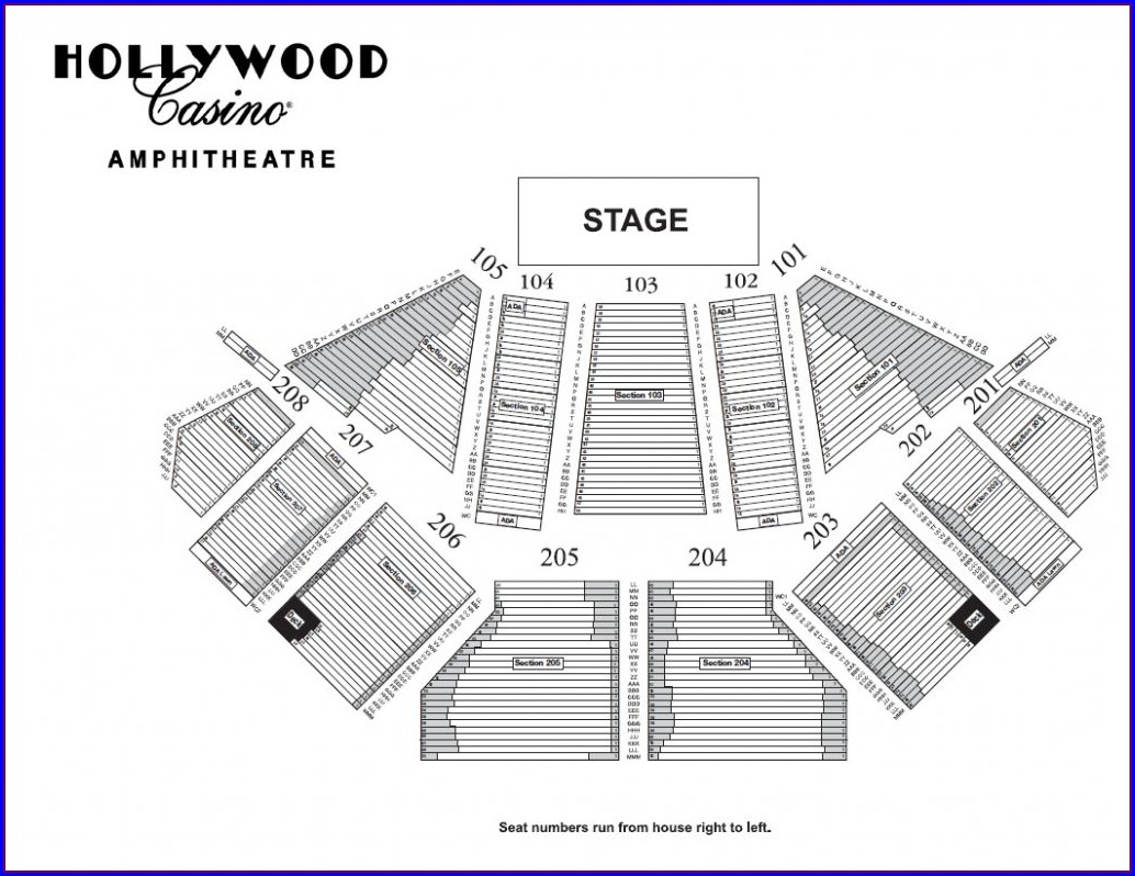 Seating Map Of Hollywood Amphitheatre St Louis