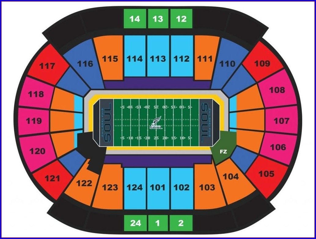 Seating Map Of Wells Fargo Center Philadelphia