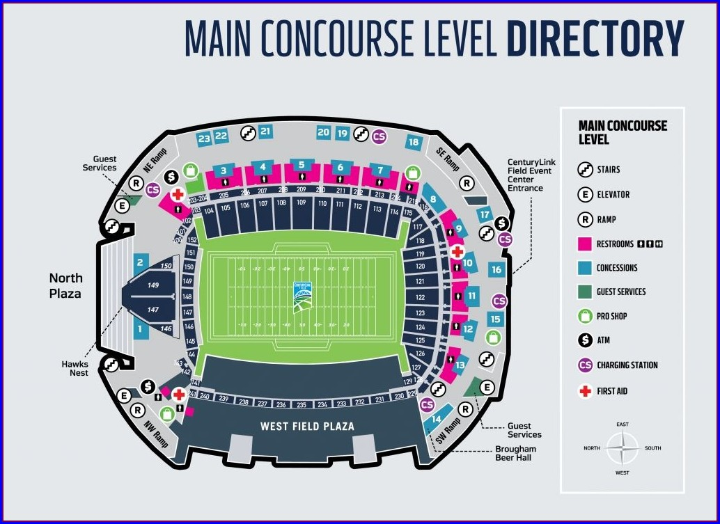 Seattle Seahawks Seat Map