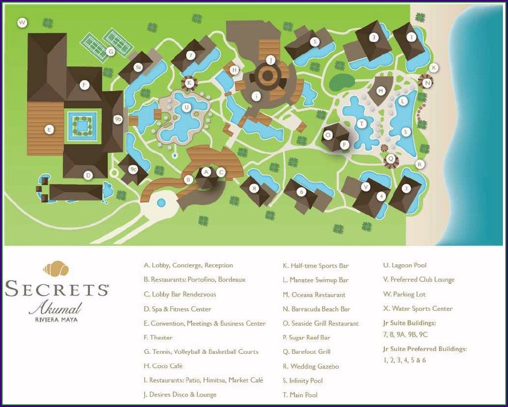 Secrets Akumal Resort Map