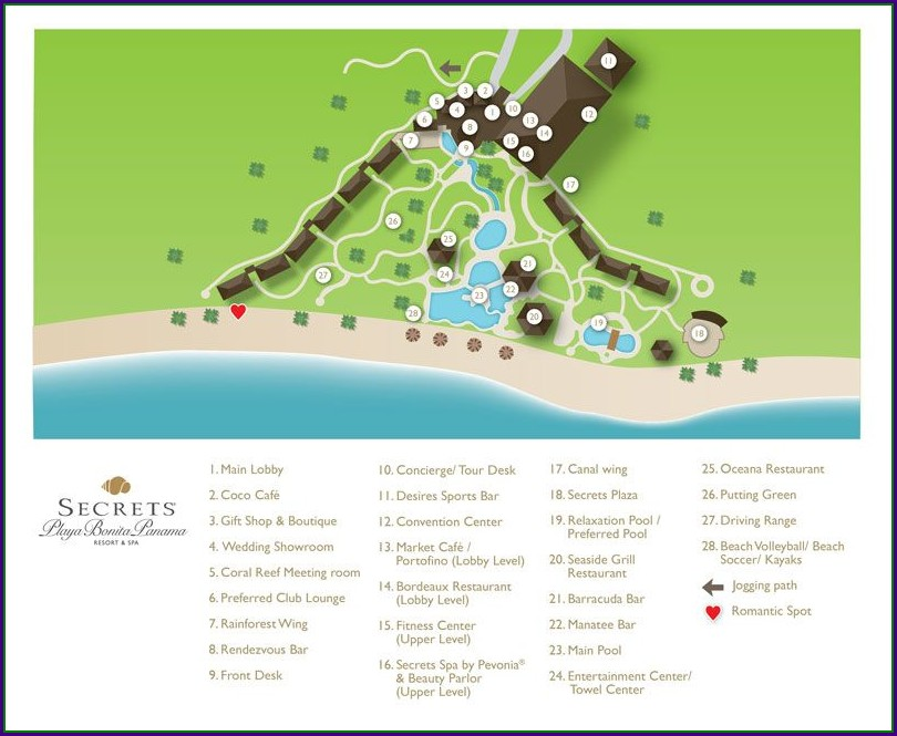 Secrets Cabo San Lucas Resort Map