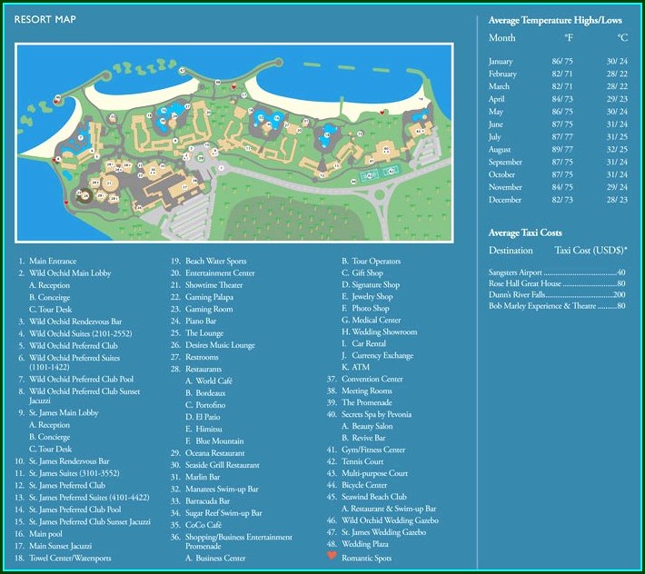 Secrets Wild Orchid Resort Map