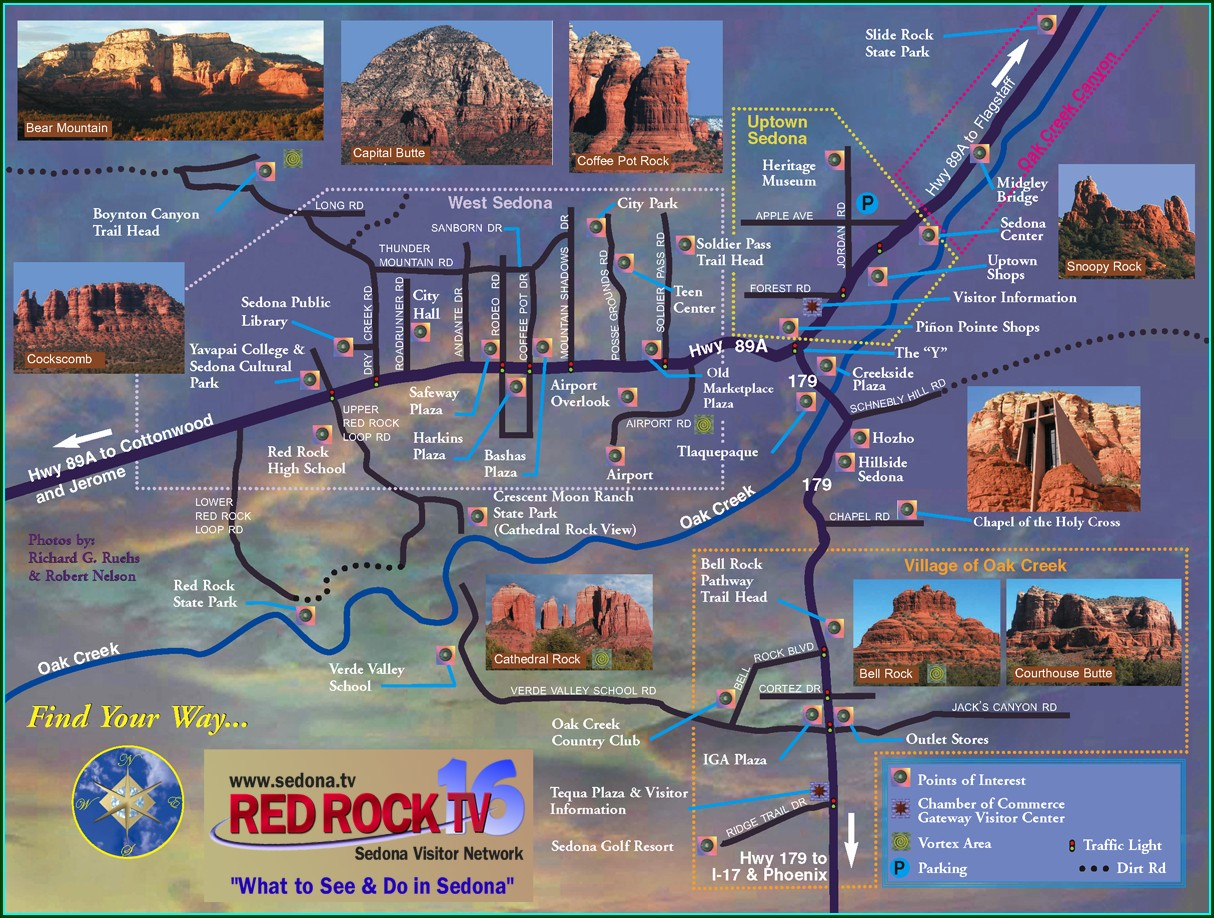 Sedona Tourist Attractions Map