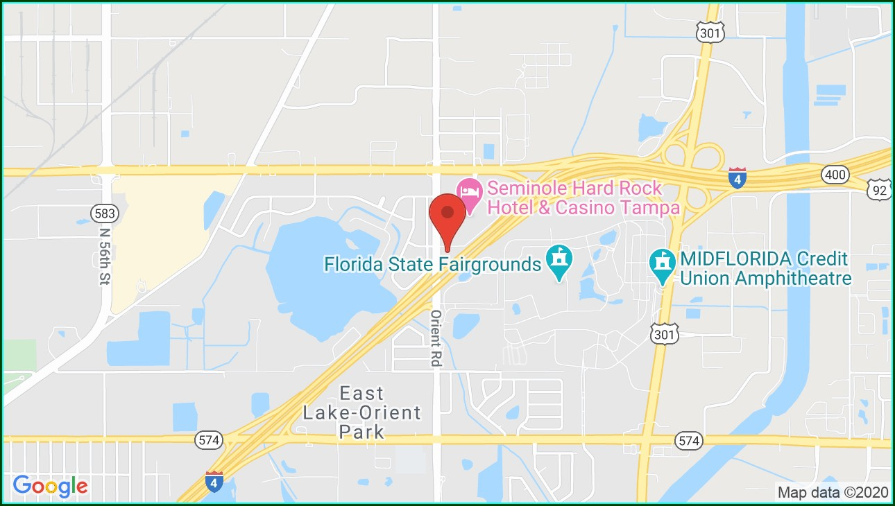 Seminole Hard Rock Casino Tampa Map