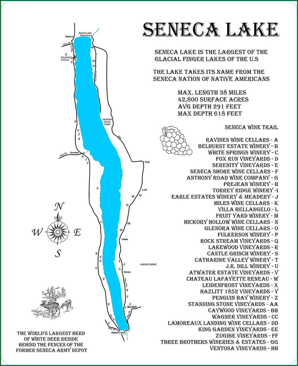 Seneca Lake Wineries And Breweries Map