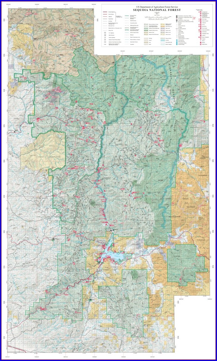Sequoia National Forest Topo Maps