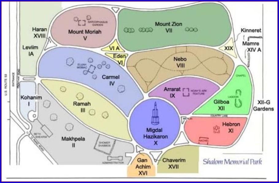 Shalom Memorial Park Map