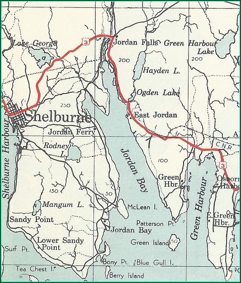 Shelburne Nova Scotia Map