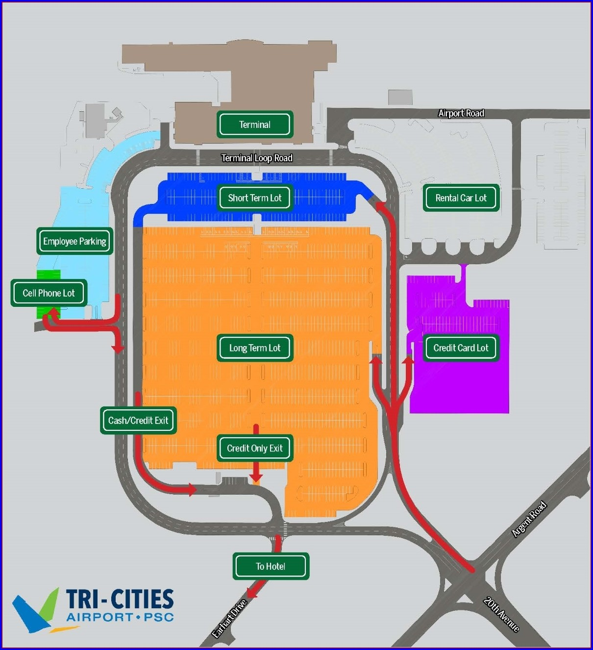 Slc Airport Economy Parking Map