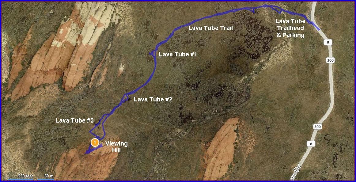 Snow Canyon Petroglyphs Map