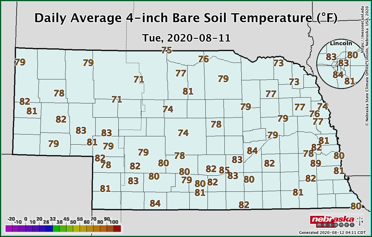 Soil Temperature Map Pennsylvania