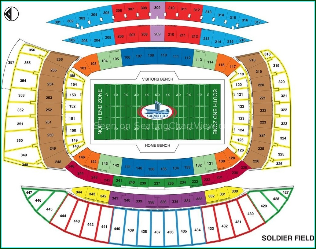 Soldier Field Chicago Seat Map