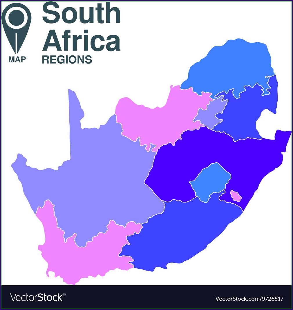 South Africa Map Vector Free