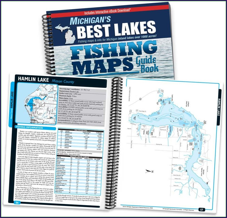 South Lake Leelanau Fishing Map