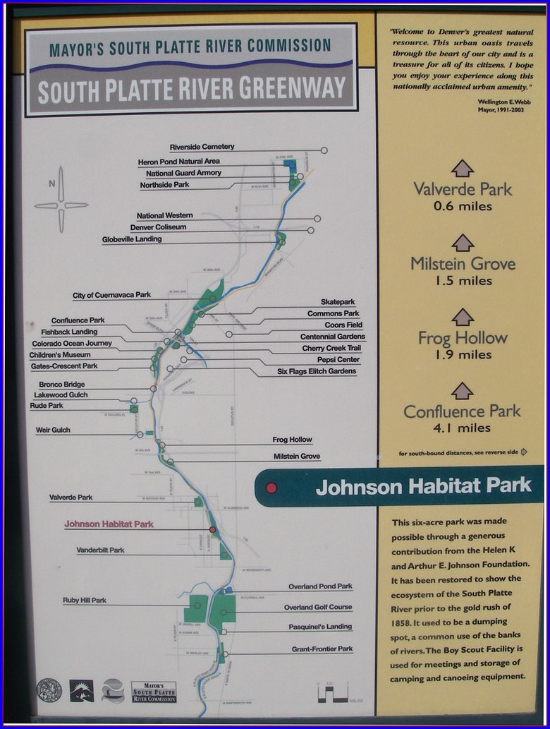South Platte River Trail Map